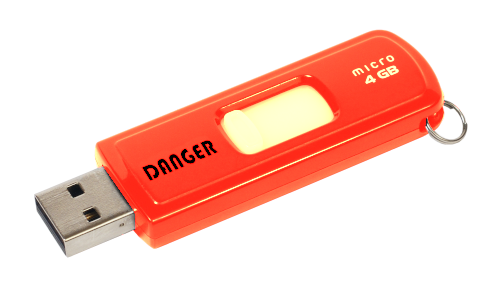 Danger clef usb
