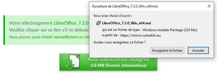 Installeur de LibreOffice